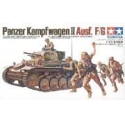 35009 Tamiya Танк PANZERKAMPFWAGEN II Ausf F/G с 20мм пушкой KWK38, 7,92мм пул-ом MG34 и 5 фигурами, 1/35