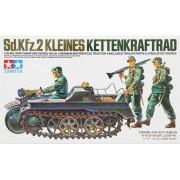 35029 Tamiya Немецкий полугусеничный мотоцикл Kettenkraftrad Sd.kfz.2 с тремя фигурами, 1/35