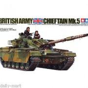 35068 Tamiya Английский танк Chieftain Mk.5 1960г. с 120-мм пушкой и 3 фигурами, 1/35