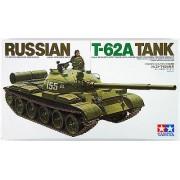 35108 Tamiya Советский танк Т-62А, 1965г., с металлической решеткой радиатора и 1 фигурой танкиста, 1/35