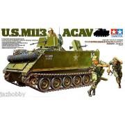 35135 Tamiya Американская БМП-амфибия М113 ACAV с внутр.интерьером, 3 фигуры, 1/35
