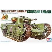 35210 Tamiya Английский тяжелый пехотный танк Mk.IV Churchill Mk.VII с 3 фигурами танкистов и 1 фигурой угощающего фермера, 1/35