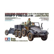 35259 Tamiya Немецкий грузовик Krupp Protze 1-тонный 6х4 Kfz.69 с 3,7см пт пушкой Pak 35/36, 1/35