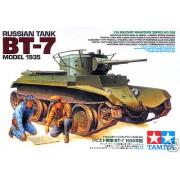 35309 Tamiya Советский танк БТ-7 (выпуск 1935 г), 2 фигуры, фототравление, наборные траки, 5 вар-тов декалей, 1/35