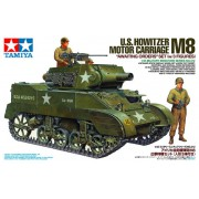 35312 Tamiya Американская самоходка Howitzer Motor Carriage M8 с тремя фигурами, 1/35