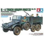 35317 Tamiya Немецкий грузовик Krupp Protze 6х4 с тремя фигурами, пулеметом MG-34, с противотанковым ружьем Pz.B.39 и ассортиментом инструментов, 1/35
