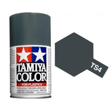 85004 Tamiya TS-4 German Gray (Немецкий серый) краска-спрей, 100 мл.