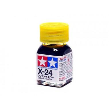 80024 Tamiya Х-24 Clear Yellow (Прозрачно-желтая) эмаль, глянцевая 10 мл