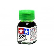 80025 Tamiya Х-25 Clear Green (Прозрачно-зелёная) эмаль, глянцевая 10 мл