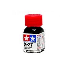 80027 Tamiya Х-27 Clear Red (Прозрачно-красная) эмаль, глянцевая 10 мл