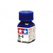 80004 Tamiya Х-4 Blue (Синяя) эмаль, глянцевая 10 мл