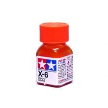 80006 Tamiya Х-6 Orange (Оранжевая) эмаль, глянцевая 10 мл