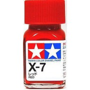 80007 Tamiya X-7 Red (Красная) эмаль, глянцевая 10 мл