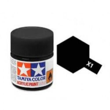 81501 Tamiya краска X-1 Black (чёрная) акрил, глянцевая 10 мл