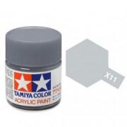 81511 Tamiya X-11 Chrome Silver (Хромированное серебро) краска акрил, глянцевая 10 мл