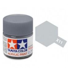 81511 Tamiya Х-11 Chrome Silver (Хромированное серебро) краска акрил, глянцевая 10 мл
