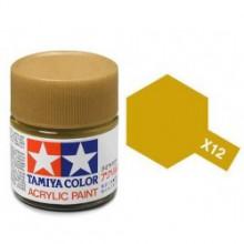 81512 Tamiya Х-12 Gold Leaf (Золотистая) акрил, глянцевая 10 мл
