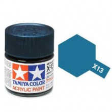 81513 Tamiya Х-13 Metallic Blue (Синий металлик) акрил, глянцевая 10 мл