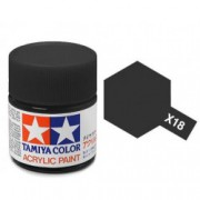 81518 Tamiya X-18 Semi Gloss Black (полу-матовый чёрный) акрил, полу-матовая 10 мл