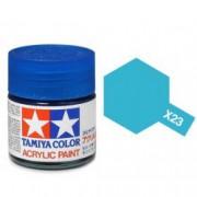 81523 Tamiya X-23 Clear blue (прозрачная синяя) акрил, 10 мл