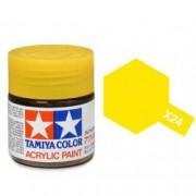 81524 Tamiya X-24 Clear Yellow (прозрачная жёлтая) акрил, 10 мл