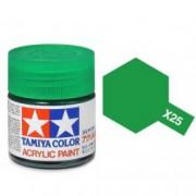 81525 Tamiya X-25 Clear green (прозрачная зелёная) акрил, 10 мл