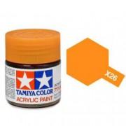81526 Tamiya X-26 Clear orange (прозрачная оранжевая) акрил, 10 мл