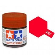 81527 Tamiya X-27 Clear red (прозрачная красная) акрил, 10 мл