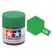 81528 Tamiya X-28 Park green (травяная зелёная) акрил, глянцевая 10 мл