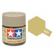 81531 Tamiya X-31 Titanium gold (титан золотой) акрил, глянцевая 10 мл