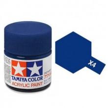 81504 Tamiya Х-4 Blue (Синяя) акрил, глянцевая 10 мл