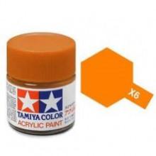 81506 Tamiya Х-6 Orange (Оранжевая) акрил, глянцевая 10 мл