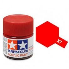 81507 Tamiya Х-7 Red (Красная) акрил, глянцевая 10 мл