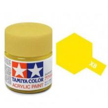 81508 Tamiya Х-8 Lemon Yellow (Лимон-желтая) акрил, глянцевая 10 мл