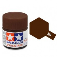 81509 Tamiya Х-9 Brown (Коричневая) акрил, глянцевая 10 мл