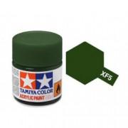 81705 Tamiya XF-5 Flat Green (Зеленая) акрил, матовая 10 мл