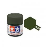 81758 Tamiya XF-58 Olive Green (Оливково-зеленая) акрил, матовая 10 мл