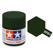 81761 Tamiya XF-61 Dark Green (Темно-зеленая) акрил, матовая 10 мл