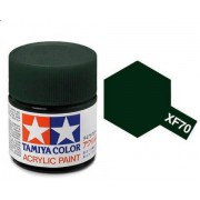81770 Tamiya XF-70 Dark Green 2 (Темно-зеленая 2) акрил, матовая 10 мл