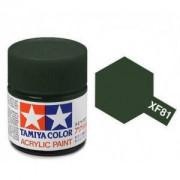 81781 Tamiya XF-81 Dark Green 2 RAF (зеленая темная 2) акрил, матовая 10 мл