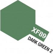81789 Tamiya XF-89 Dark Green 2 (Темно-зелёная 2) акрил, матовая 10 мл