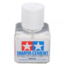 87003 Tamiya Клей с кисточкой (Cement), 40 мл.