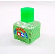87038 Tamiya Клей (Extra Thin Cement) - жидкий клей 40 мл. с закручивающейся крышкой c тонкой, жесткой кисточкой