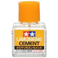 87113 Tamiya Клей Limonene Cement с кисточкой с запахом лимона, 40 мл.