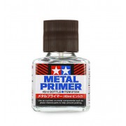 87204 Tamiya Грунтовка (Metal Primer) жидкая прозрачная для металла, 40мл.