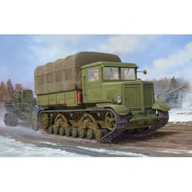 01573 Trumpeter Russian Voroshilovets Tractor (Советский тягач Ворошиловец), 1/35