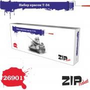 26901 ZIPmaket Набор красок Т-34, матовая, 8 х 15 мл
