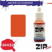 26422 ZIPmaket Цветной лак ОРАНЖЕВЫЙ, полиуретановый, 15 мл