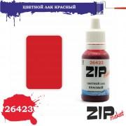 26423 ZIPmaket Цветной лак КРАСНЫЙ, полиуретановый, 15 мл