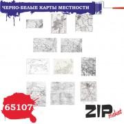 65107 ZIPmaket Черно-белые карты местности, 1/35
